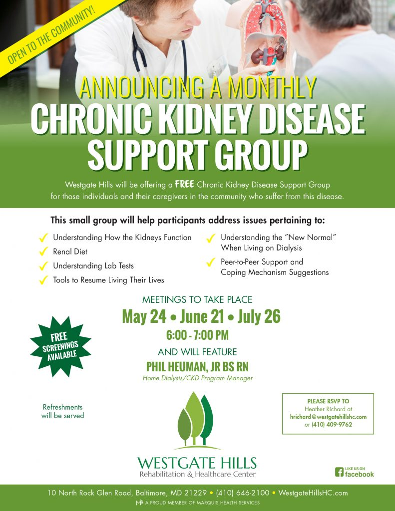 Join Us Chronic Kidney Disease Support Group 6 21 7 26
